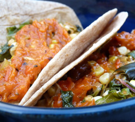 Chipotle Swiss Chard Tacos